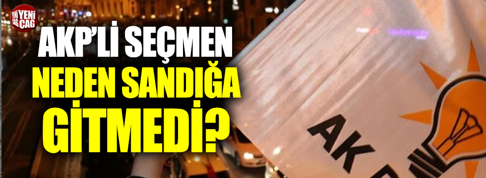 AKP'li seçmen neden sandığa gitmedi: İşte 23 Haziran psikolojisi