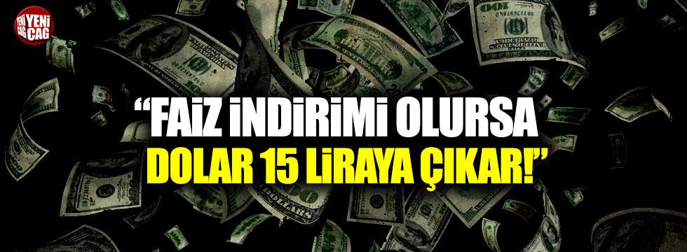 """Muratoğlu: """"Faiz indirimi doları 15 liraya çıkarabilir"""""""