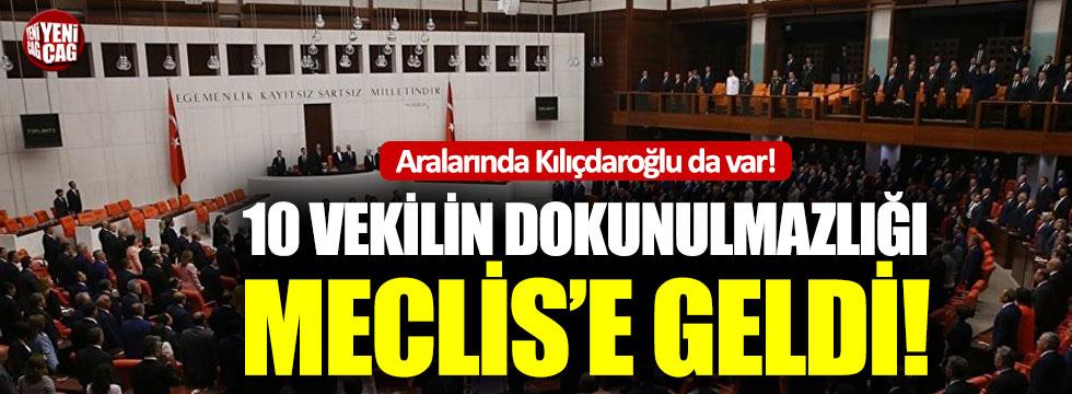 10 milletvekilinin dokunulmazlık dosyaları Meclis'te