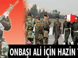Onbaşı Ali için hazin tören