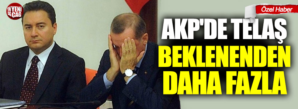 AKP'de telaş beklenenden daha fazla