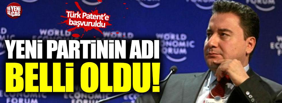 İşte yeni partinin adı! Türk Patent'e başvuruldu!