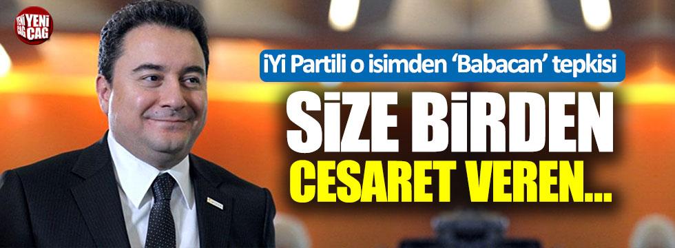 İYİ Partili Kavuncu'dan 'Babacan' tepkisi!