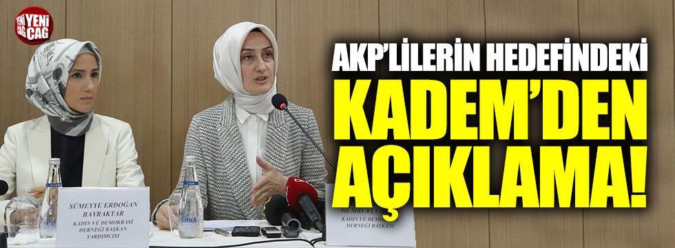 AKP'lilerin hedefindeki Sümeyye Erdoğan'ın derneğinden açıklama