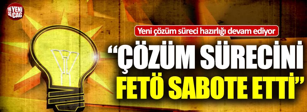 AKP'li Mehdi Eker'den çözüm süreci çıkışı