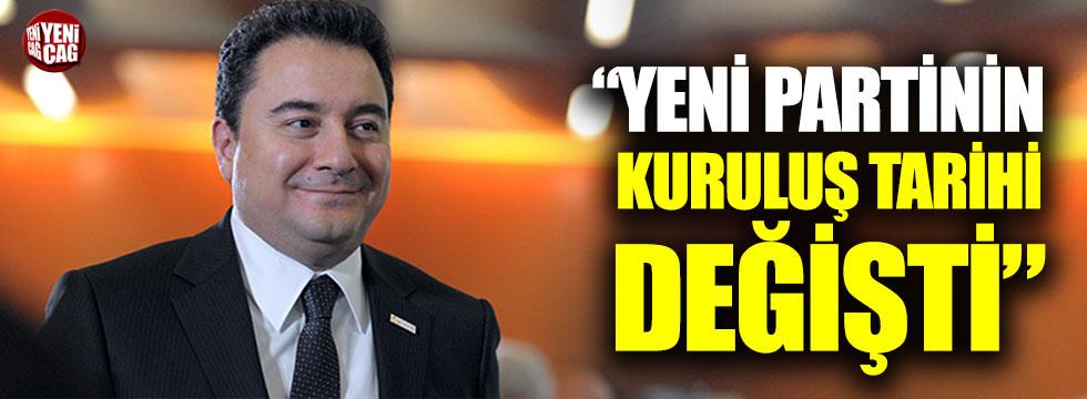 """""""Babacan'ın partisinin kuruluş tarihi değişti"""""""