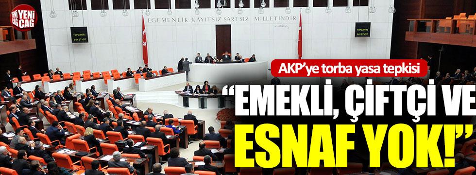 CHP'den AKP'ye torba yasa tepkisi