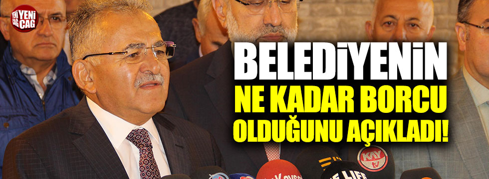 """Memduh Büyükkılıç: """"Belediyenin 1 milyar 200 milyon lira borcu var"""""""