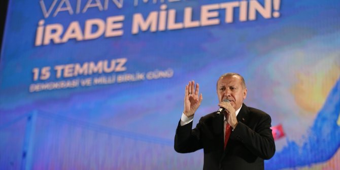 Erdoğan konuştu, şehitler unutuldu: 15 Temmuz anması mitinge dönüştü!