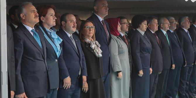 Liderler yeni Emniyet Müdürlüğü binasının açılışında bir araya geldi