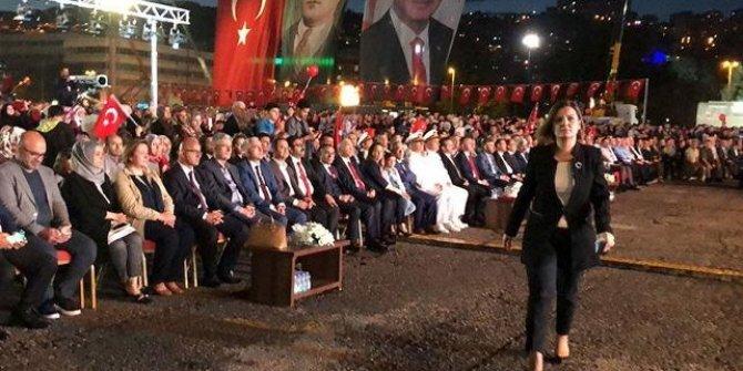Erdoğan'ın konuşması sırasında protesto