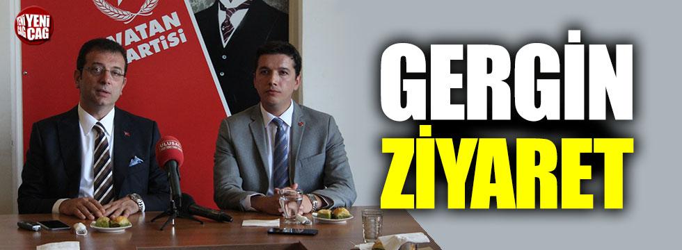 İmamoğlu'dan Vatan Partisi'ne gergin ziyaret