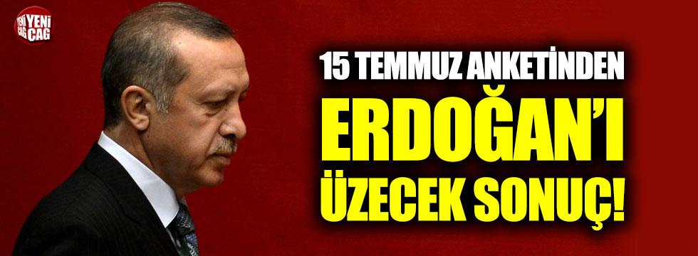 15 Temmuz anketinden Erdoğan'ı üzecek sonuç!