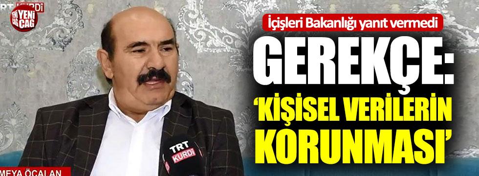 İçişleri Bakanlığı Osman Öcalan sorusuna yanıt vermedi