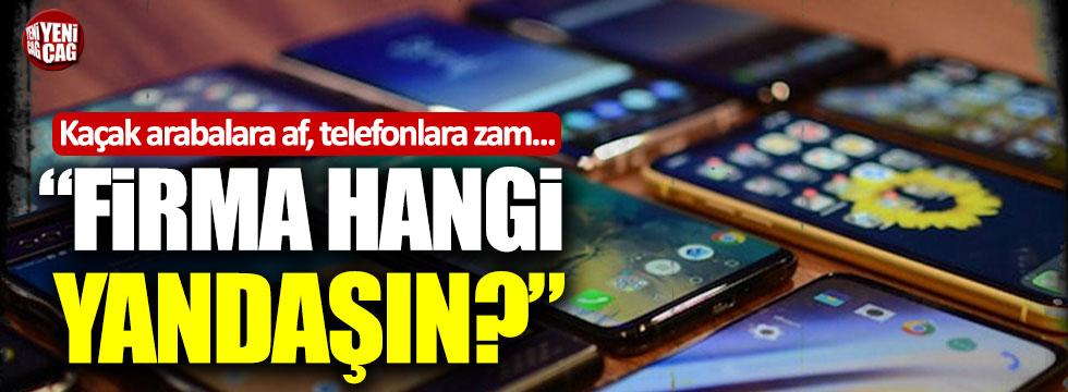 "Sinan Oğan: ""Cep telefonu ithalatı yapan firma hangi yandaşın?"""