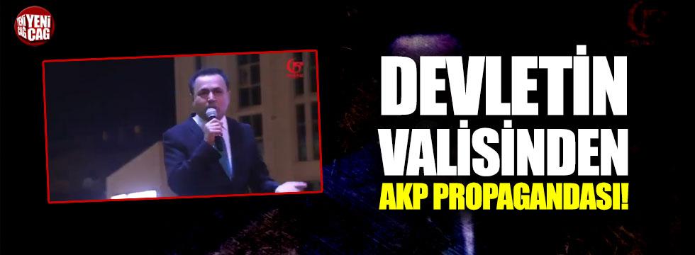 AKP propagandası yapan valiye tepki yağıyor