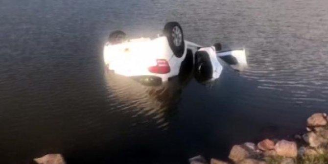 Ankara'da otomobil gölete düştü: 1 ölü