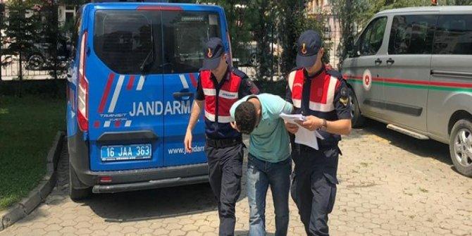 Okul inşaatından demir çalan kişi tutuklandı