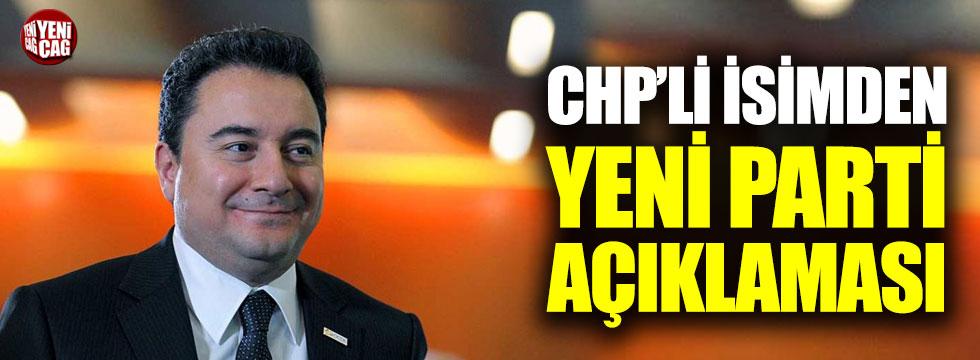 Eski CHP'liden yeni parti iddialarına yanıt