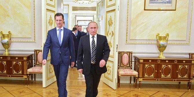Putin ve Esad'dan karşılıklı kutlama mesajı
