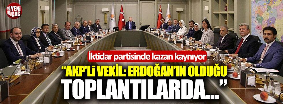 AKP'li vekil: MYK üyeleri Cumhurbaşkanı ile yapılan toplantılarda susuyor