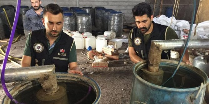 Adana'da 22 bin litre sahte içki ele geçirildi