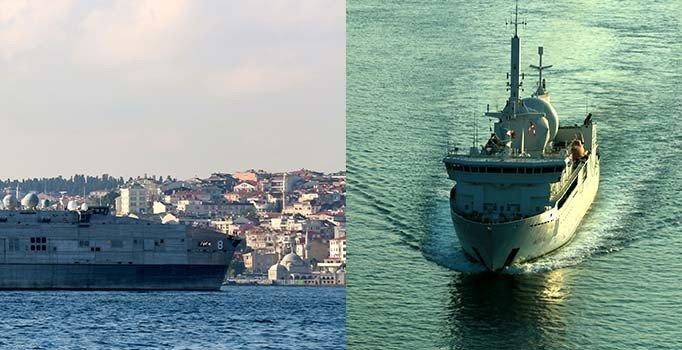 Fransa ve ABD gemileri boğazdan geçti