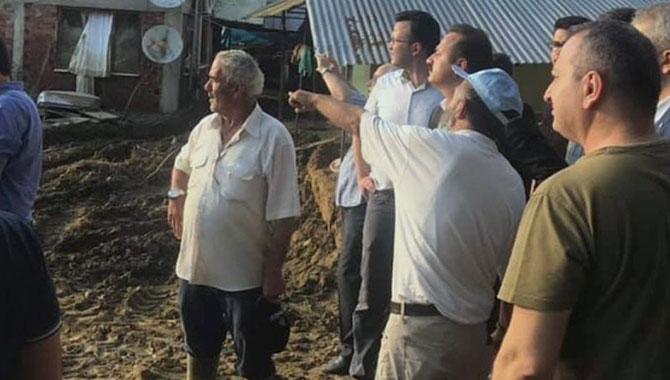 İYİ Parti sel felaketinin yaşandığı Düzce'de!