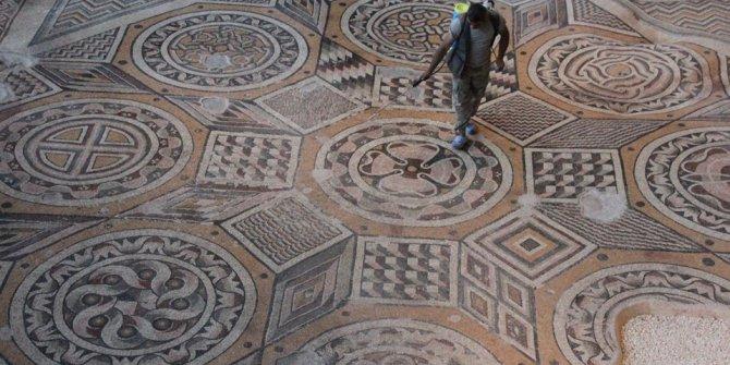 Dev mozaiğin yer aldığı müzede sona yaklaşıldı