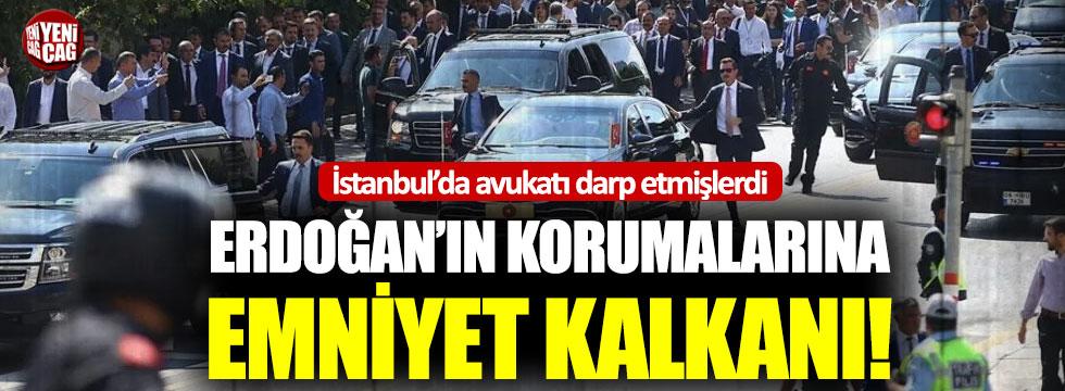 Erdoğan'ın korumalarına emniyet kalkanı!