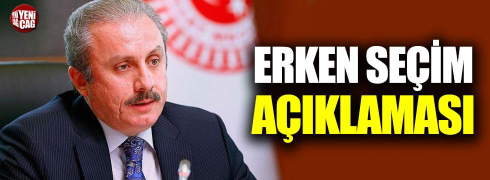 """Mustafa Şentop: """"Erken seçim ihtimali sıfır"""""""