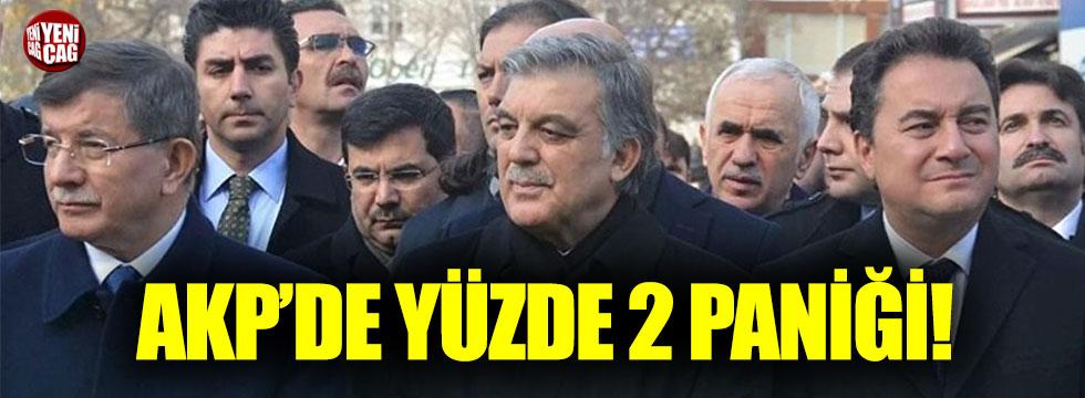 AKP'de yüzde 2 paniği