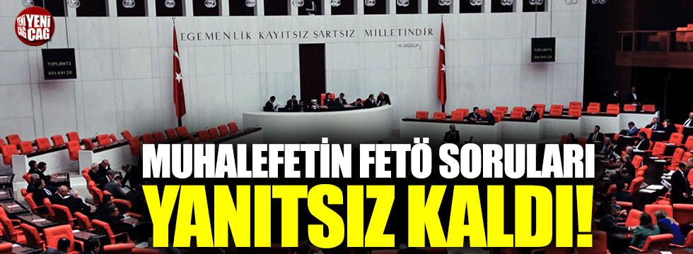 TBMM Başkanı Şentop FETÖ sorularını geri çeviriyor!