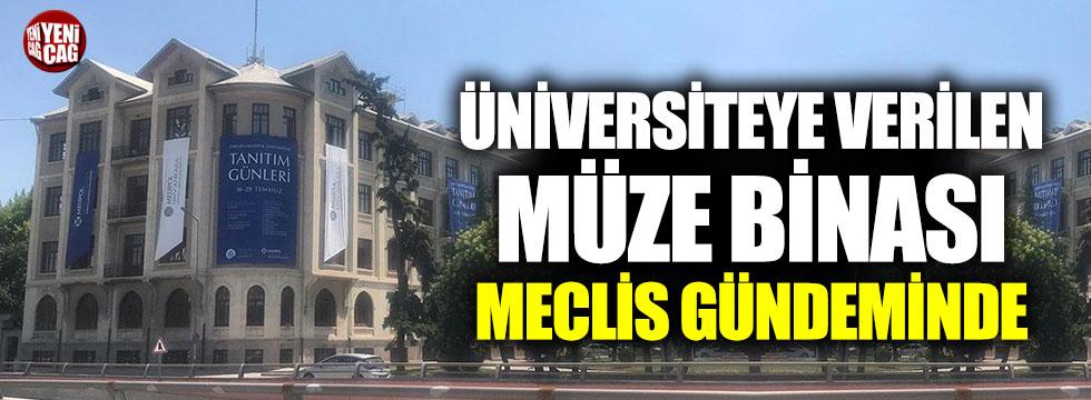 TCDD Müzesi binasının Medipol Üniversitesi'ne devri Meclis gündeminde