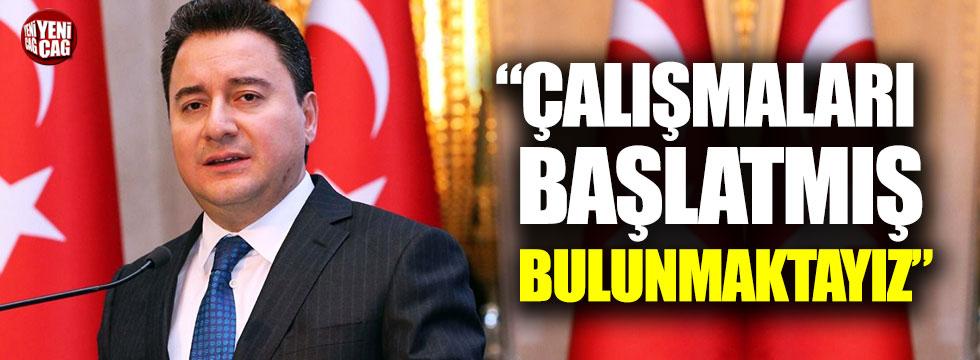 """Ali Babacan: """"Çalışmaları başlatmış bulunmaktayız"""""""