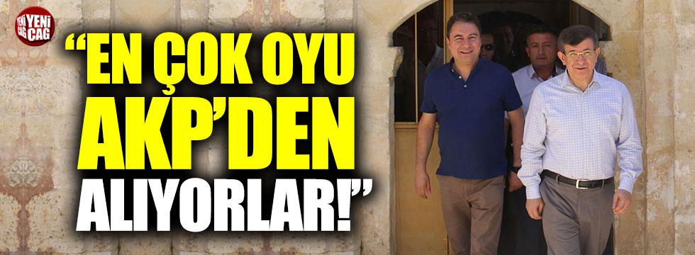 """""""Davutoğlu ile Babacan en çok oyu AKP'den alıyor"""""""