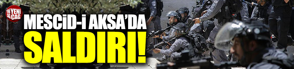 Mescid-i Aksa'da Filistinlilere sert müdahale