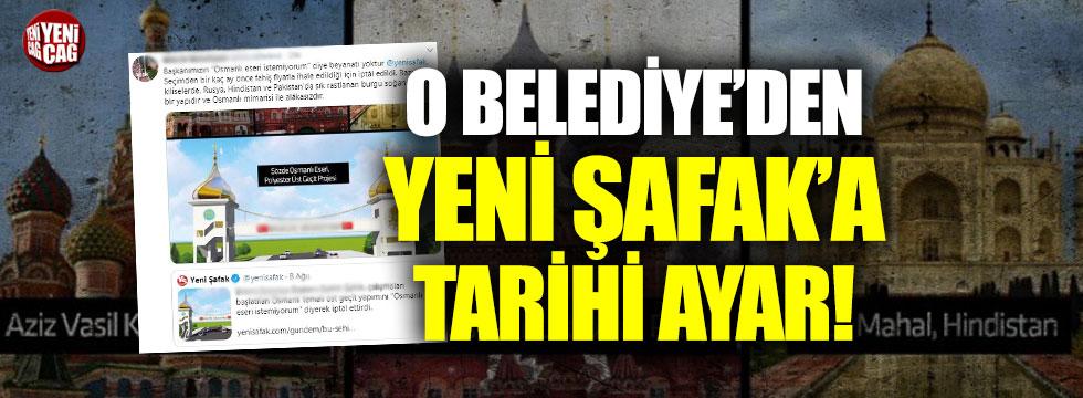 Bilecik Belediyesi'ndne Yeni Şafak'a tarihi ayar