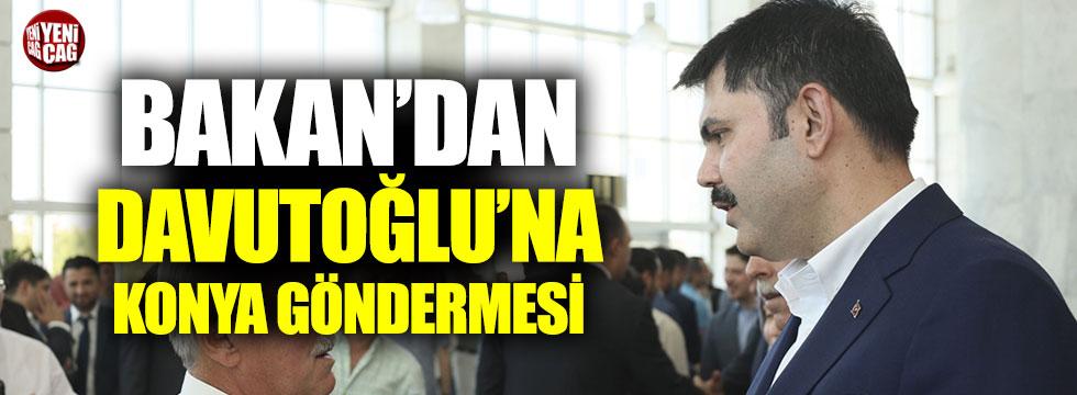 Bakan'dan Davutoğlu'na gönderme