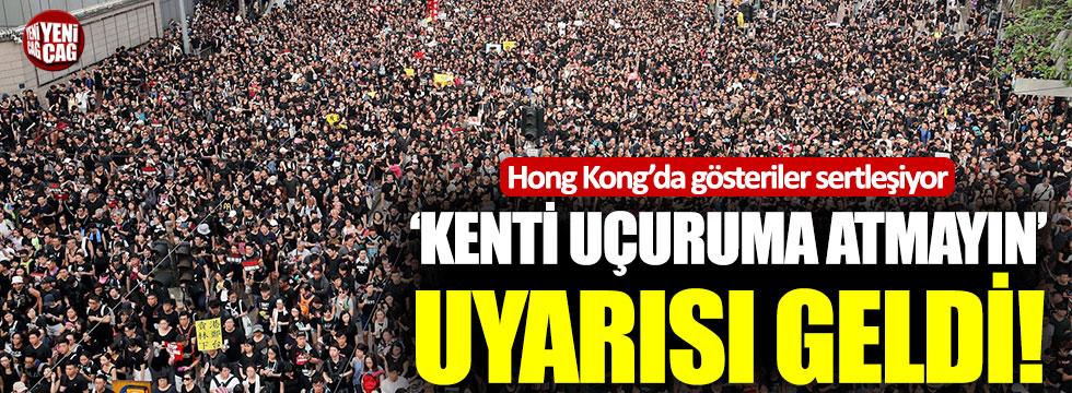 Hong Kong'da Çin'e karşı gösteriler sertleşiyor