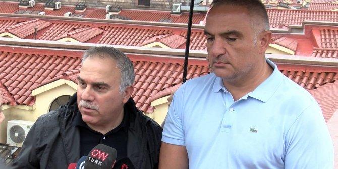 """Kültür Bakanı Ersoy: """"Kapalıçarşı'daki yeni çatı testi başarıyla geçti"""""""