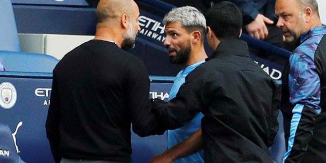 Aguero ile Guardiola arasında sert tartışma