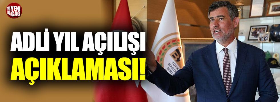 Metin Feyzioğlu'ndan adli yıl açılışı açıklaması
