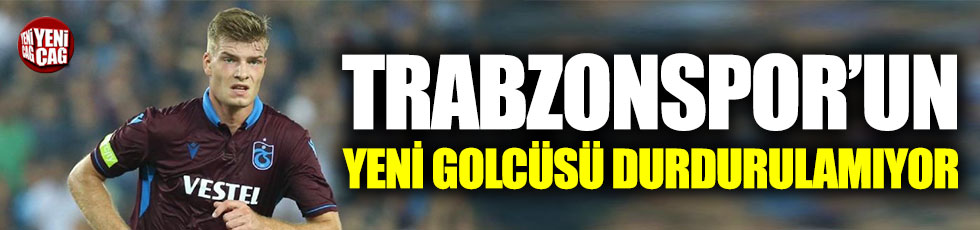 Trabzonspor'un yeni golcü Sörloth tam gaz!