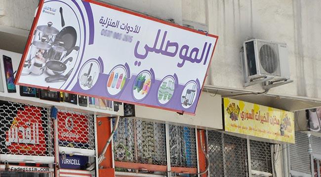 Aksaray'da yine birçok tabela Arapça!