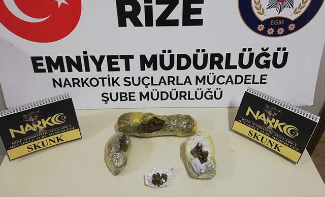 Rize'de uyuşturucu operasyonu: Gözaltılar var
