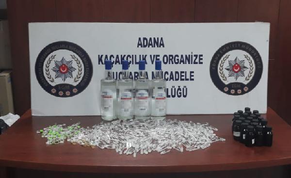 Adana'da sahte alkol operasyonu