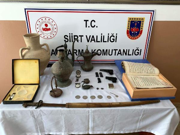 Siirt'te tarihi eser kaçakçılarına darbe!