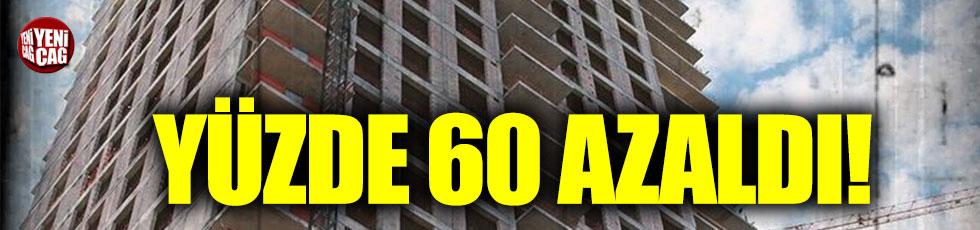 Belediyelerin verdiği yapı ruhsatı yüzde 60 azaldı!