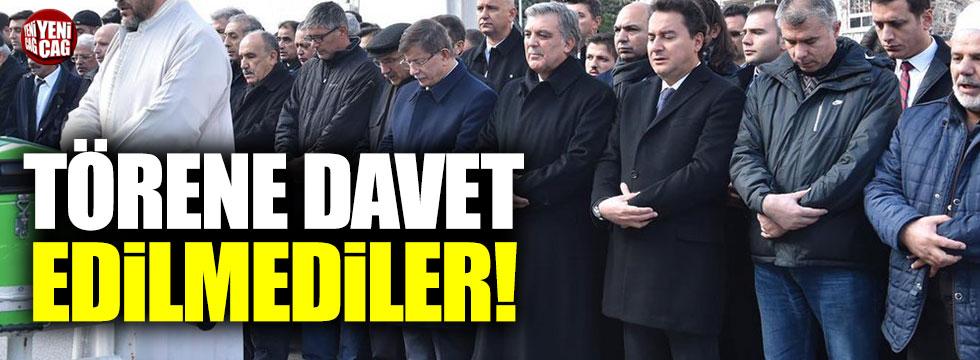 Babacan, Gül ve Davutoğlu törene davet edilmedi!